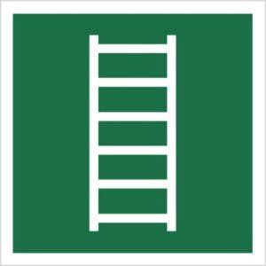 znak drabina ewakuacyjna piktogram bhp ewakuacyjny do ewakuacji fotoluminescencyjny świecący w ciemności bhp świadectwo cnbop pib iso 7010 zielony znak bezpieczeństwa