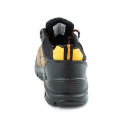 Półbuty robocze BEARFIELD K09 S3 SRC Metal Free buty bezpieczne obuwie ochronne do pracy z blachą z podnoskiem wytrzymałe skórkowe skórzane dla brukarzy s3 antypoślizgowe src wytrzymałe brązowe czarne z tyłu