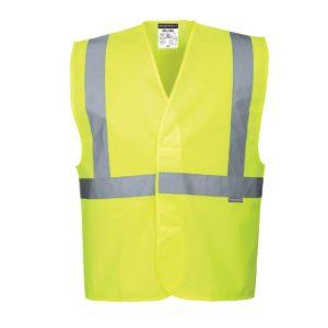 Kamizelka Ostrzegawcza Portwest C472 kamizelka narzutka odblaskowa drogowa robocza ochronna bhp odzież robocza sklep iso 471 2 klasa żółta