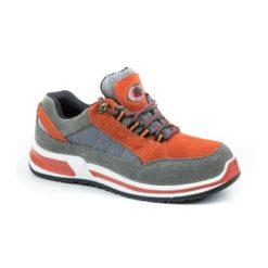Półbuty ochronne BEARFIELD GT02 S1 SRC obuwie bezpieczne robocze buty ochronne do pracy z blachą zamszowe skórzane skórkowe sneakersy trampki pomarańczowe szare stalowe sklep bhp odzież robocza
