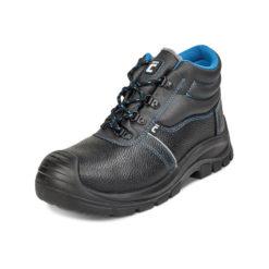 Trzewiki Ochronne Ocieplane Cerva RAVEN XT S1 buty robocze do pracy ochronne bezpieczne z podnoskiem z blachą z wkładką antyprzebiciową skórkowe mocne tanie sznurowane nadlane antypoślizgowe