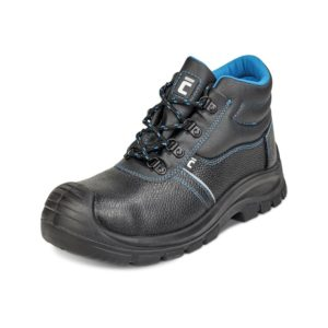 Trzewiki Ochronne Cerva RAVEN XT S1 buty robocze do pracy ochronne bezpieczne z podnoskiem z blachą z wkładką antyprzebiciową skórkowe mocne tanie sznurowane nadlane antypoślizgowe