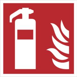 znak gaśnica piktogram bezpieczeństwa przeciwpożarowy oznakowanie iso 7010 bezpieczeństwa pożarowego czerwone fotoluminescencyjne płyta pvc folia naklejka
