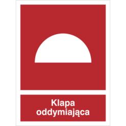 Znak Klapa Oddymiająca piktogram bezpieczeństwa przeciwpożarowy oznakowanie bezpieczeństwa pożarowego czerwone fotoluminescencyjne płyta pvc folia naklejka sklep bhp