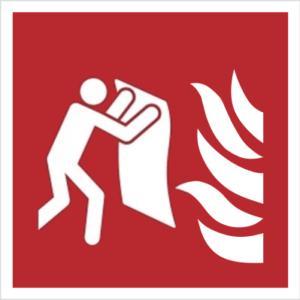 znak koc gaśniczy piktogram bezpieczeństwa przeciwpożarowy oznakowanie iso 7010 bezpieczeństwa pożarowego czerwone fotoluminescencyjne płyta pvc folia naklejka