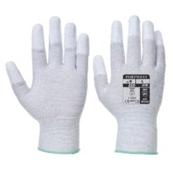 Rękawice antystatyczne Portwest A198 Powlekane Palce rękawiczki ochronne robocze bhp antystatyczne antyelektrostatyczne esd manualne powlekane palce dzianinowe nić węglowa szare
