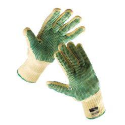 Rękawice antyprzecięciowe Cerva CHIFFCHAFF rękawiczki robocze ochronne mocne kevlarowe na przecięcia nakrapiane pvc sklep bhp