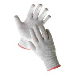 Rękawice antyprzecięciowe Cerva CROPPER odporne na przecięcie wytrzymałe mocne ochronne robocze rękawiczki sklep bhp dziane szare włókno szklane spandex