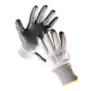 Rękawice antyprzecięciowe Cerva RAZOBILL antyprzecięciowe włókno szklane spandex mocne wytrzymałe odporne rękawiczki na przecięcie szare czarne nylon