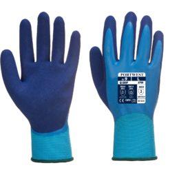Rękawice ochronne Portwest AP80 rękawiczki ochronne do pracy robocze wodoodporne powlekane lateksem wytrzymałe mocne niebieskie