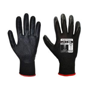 Rękawice ochronne Portwest A320 DEXTI-GRIP Pianka Nitrylowa rękawiczki do pracy robocze ochronne dziane nylonowe pylon czarne z pianką nitrylową manualne dla montera mocne