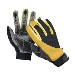 Rękawice Warsztatowe FH CORAX rękawiczki ochronne robocze do pracyt antypoślizgowe mocne warsztatowe mechanik monterskie manualne materiałowe na rzep