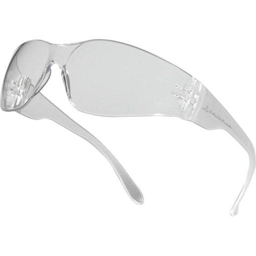 Okulary Ochronne Delta Plus BRAVA2 Clear Przezroczyste okulary do pracy robocze ochronne przeciwodpryskowe przezroczyste poliwęglan jednoczęsciowe 1 ft f