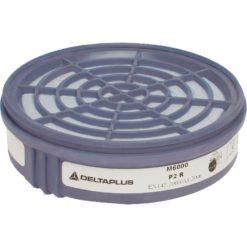 FIltry przeciwpyłowe Delta Plus M6000 P2 do półmaski wymienne do paski na pył zestaw na pochłaniacze szare białe ochronne bhp do pracy sklep bhp