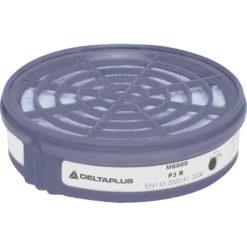FIltry przeciwpyłowe Delta Plus M6000 P3 do półmaski wymienne do paski na pył zestaw na pochłaniacze szare białe ochronne bhp do pracy sklep bhp