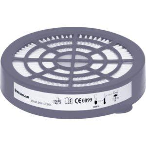 FIltry przeciwpyłowe Delta Plus M6000E PREP3 P3 2 sztuki do półmaski wymienne do paski na pył zestaw na pochłaniacze szare białe ochronne bhp do pracy sklep bhp