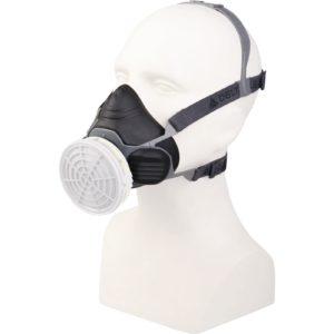 Półmaska Filtrująca Delta Plus M6100 JUPITER maska wielorazowa plastikowa z tworzywa 3m delta regulowana ochrona dróg oddechowych do pracy robocza ochronna czarna szara na filtry sklep bhp odzież robocza ochronna środki ochrony na 1 filtr na modelu