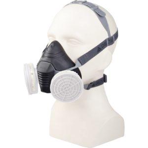 Półmaska Filtrująca Delta Plus M6200 JUPITER maska wielorazowa plastikowa z tworzywa 3m delta regulowana ochrona dróg oddechowych do pracy robocza ochronna czarna szara na filtry sklep bhp odzież robocza ochronna środki ochrony na modelu