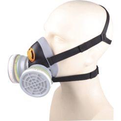 Półmaska Filtrująca Delta Plus M6400 JUPITER maska wielorazowa plastikowa z tworzywa 3m delta regulowana ochrona dróg oddechowych do pracy robocza ochronna czarna szara na filtry sklep bhp odzież robocza ochronna środki ochrony na modelu