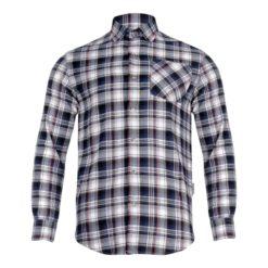 Koszula Robocza Flanelowa Lahti PRO L41804 koszula do pracy robocza kufajka bawełniana przewiewna z kołnierzykiem na guziki odzież robocza ochronna sklep bhp ciuchy robocze czarna szara niebieska przód