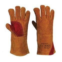 Rękawice spawalnicze Portwest A530 Wzmocnione rękawice ochronne robocze do pracy dla spawacza skórzane mocne wzmacniane brązowe czerwone odzież robocza ochronna środki ochrony sklep bhp