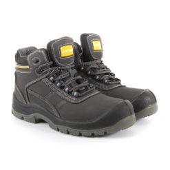Trzewiki ochronne Lahti PRO L30113 S3 SRC obuwie ochronne robocze do pracy z blachą z podnoskiem stalowym wkładka antyprzebiciowe czarne nubuk za kostkę buty robocze bezpieczne zawodowe s3 src antypoślizgowe