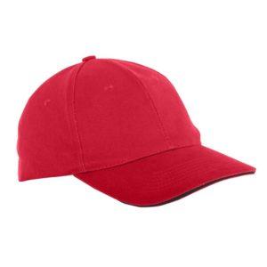 Czapka z daszkiem Lahti PRO L1813300 bejsbolówka materiałowa czapeczka z daszkiem przewiewna bawełniana robocza ochronna bhp sklep odzież robocza czerwona