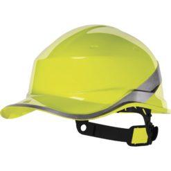 Hełm Ochronny DELTA PLUS BASEBALL DIAMOND kask budowlany przemysłowy ochronny twardy ze skorupą baseball w kształcie czapki regulowany en 397 ochrona głowy środki ochrony indywidualnej sklep bhp żółty