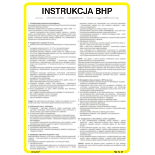 instrukcja bhp przyklad stanowiskowa pracy instrukcja bezpieczeństwa na płycie twardej