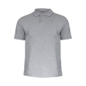 Koszulka robocza polo LAHTI PRO L40311 szara koszulka do pracy z kołnierzykiem ciuchy robocze sklep bhp odzież ochronna melanż przód