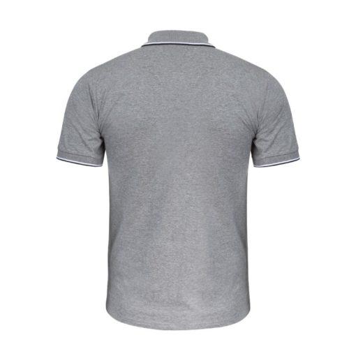 Koszulka robocza polo LAHTI PRO L40311 szara koszulka do pracy z kołnierzykiem ciuchy robocze sklep bhp odzież ochronna melanż tył