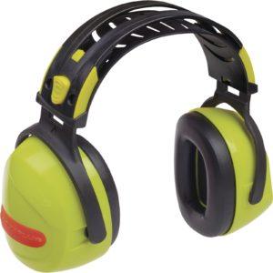 Ochronniki Słuchu DELTA PLUS INTERLAGOS SNR 33 dB nauszniki przeciwhałasowe wygłuszające delta panoply sklep bhp środki ochrony żółte fluo podwójny pałąk