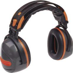 Ochronniki Słuchu DELTA PLUS YAS MARINA SNR 32 dB nauszniki przeciwhałasowe składane mocne wyciszające robocz ochronne bhp sklep bhp środki ochrony panoply snr 32 szaro pomarańczowe
