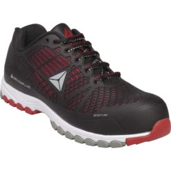 Półbuty ochronne DELTA SPORT S1P SRC 2 kolory adidasy sportowe obuwie robocze buty do pracy bezpieczne z noskiem podnoskiem antyprzebiciowe kompozytowe bez metalu amagnetyczne delta s1p antypoślizgowe sklep bhp czarne czerwone