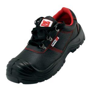 Półbuty Ochronne GALMAG 561 N S1 SRC obuwie buty robocze do pracy bezpieczne z noskiem z blachą brukarskie skórzane bhp tanie nadlane czarno czerwone sklep bhp
