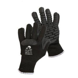 Rękawice antywibracyjne fh atthis drgania do pracy robocze ochronne bezpieczne bhp czarne dzianinowe cerva mocne sklep bhp