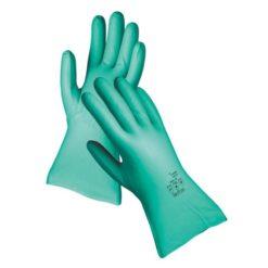 Rękawice Chemiczne CERVA GREBE Nitrylowe chemoodporne gospodarcze dla sprzątaczki laboratoryjne grube welurowe zielone sklep bhp rękawiczki ochronne
