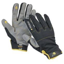 Rękawice Warsztatowe FH EPOPS dzianinowe spandex do pracy wędrówkowe do pracy rękawiczki na rzep czarne szare żółte