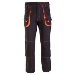 Spodnie Robocze Brixton Spark do pasa w pas ciuchy robocze odzież ochronna sklep bhp do pracy bawełniane 100% bawełna granatowe pomarańczowe przód