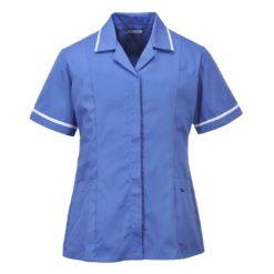 Klasyczna Tunika Damska PORTWEST LW20 lekarska pielęgniarska do pracy ochronna robocza medyczna fartuszek pielęgniarski damski sklep bhp niebieska