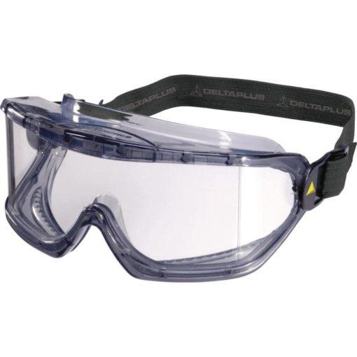 Gogle Ochronne DELTA PLUS GALERAS EN 166 okulary przylegające na gumke do pracy laboratoryjne z pvc bhp sklep przezroczyste poliwęglan przód