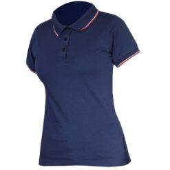 Koszulka Polo Damska LAHTI PRO L40316 granatowa polówka podkoszulek z kołnierzykiem do pracy robocza ochronna bhp sklep damska ozdobna taliowana
