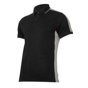 Koszulka robocza polo LAHTI PRO L40318 Czarno-szara ochronna do pracy koszulka gładka ciuchy robocze z kołnierzykiem sklep bhp