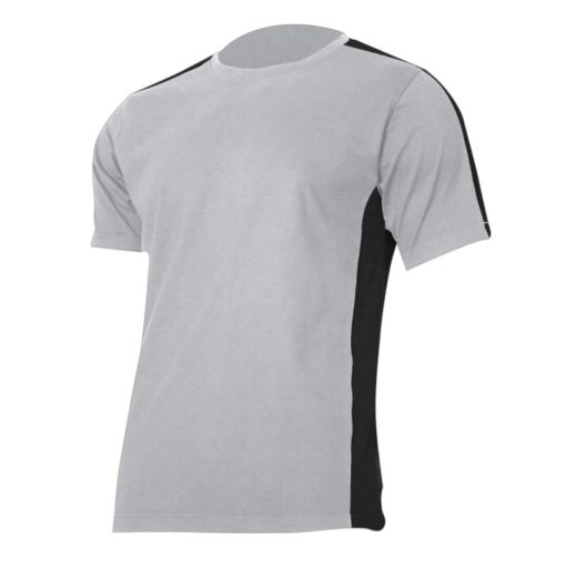 Koszulka T-shirt Lahti PRO L40228 szara czarna podkoszulek do pracy ochronna oddychająca bawełniana tshirt sklep bhp czarny czerwony na krótki rękaw