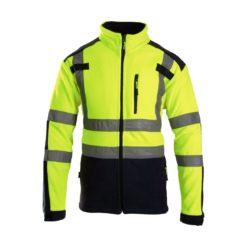 Bluza Polarowa Ostrzegawcza BRIXTON FLASH bluza z polarem polarowa ciepła do pracy odblaskowa drogowa mocna iso 20471 klasa 2 bhp sklep żółta granatowa