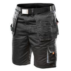 Spodenki Robocze NEO TOOLS 81-270 do pracy spodnie krótkie robocze ochronne krótkie do kolan bhp monterskie z paskiem szare grafitowe