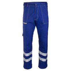 Spodnie BRIXTON CLASSIC z Odblaskami do pasa w pas ochronne do pracy ciuchy robocze ubranie z pasami ostrzegawczymi polstar ciuchy sklep bhp niebieskie przód