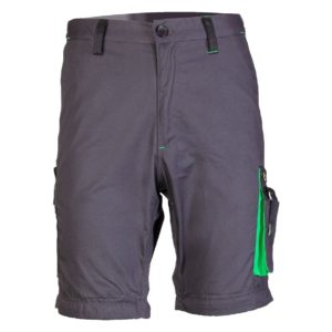 Spodnie Robocze Krótkie SEVEN KINGS ONYX spodenki szorty ochronne do pracy ciuchy robocze bhp szare zielone na lato sklep bhp
