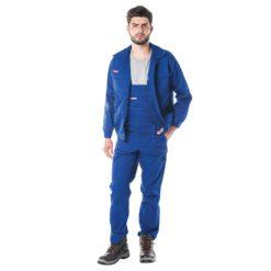 Ubranie Robocze REIS Master Niebieskie do pracy ochronne uniform przemysłowe robotnicze ogrodniczki bluza komplet do pracy ciuchy robocze bhp rawpol reis niebieska sklep bhp
