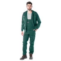 Ubranie Robocze REIS Master Zielone do pracy ochronne uniform przemysłowe robotnicze ogrodniczki bluza komplet do pracy ciuchy robocze bhp rawpol reis zielona sklep bhp